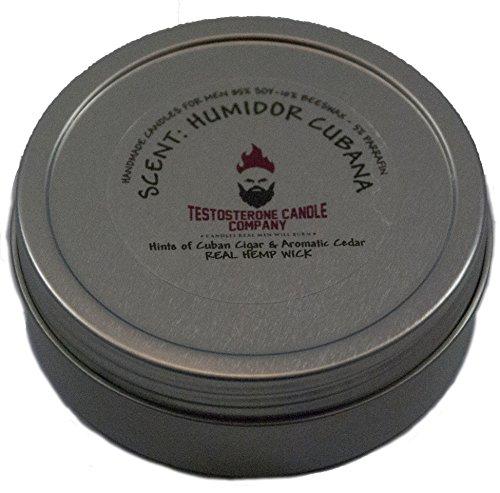 308f4793d29 Testosterone Candle Company Humidor Cubana Humidor Cigar Scented Candle 8oz