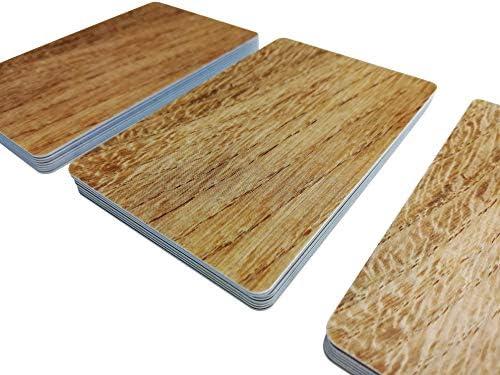 Premium Plastikkarten | PVC Karten HOLZ OPTIK | 1-100 Stück | Blanko Rohlinge | NEU! (1)