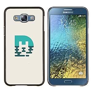 KLONGSHOP // Cubierta de piel con cierre a presión Shell trasero duro de goma Protección Caso - marca azul M - Samsung Galaxy E7 E700 //