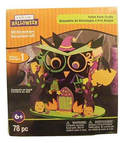 Halloween 3D Activity Kit ~ Owl Tower (78 Pieces) -