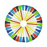 Suriel(TM) 100 Pack Multi Color Plastic Golf Tees 83mm Rubber Cushion Top Golf Tee