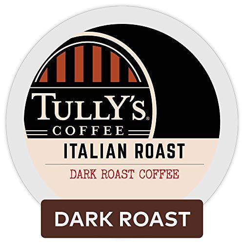 Tully's Coffee, Italian Roast, Single-Serve Keurig K-Cup Pods, Dark Roast Coffee, 72 Count (3 Boxes of 24 - Coffee Pods Roast