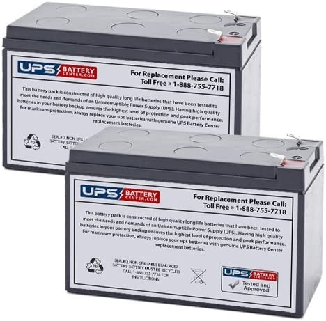 12 Volt 7 Amp Hour Alarm Replacement Battery 2 Pack