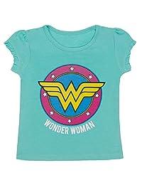 Wonder Woman - Little Girls Ruffle Sleeve T-Shirt