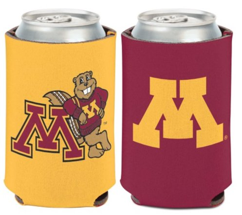 NCAA University Minnesota Golden Gophers 1 Pack 12 oz. 2-Sided Can Cooler