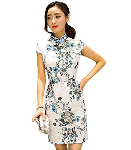 Chinese Mini Dress Qipao Cheongsam Evening Gown (XXL)