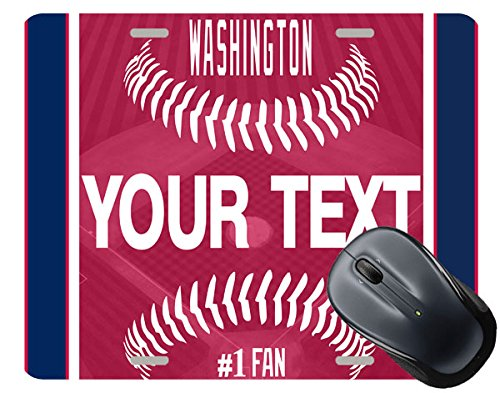 Washington Baseball Square (BleuReign(TM) Personalized Custom Name Baseball Washington Square Mouse Pad)