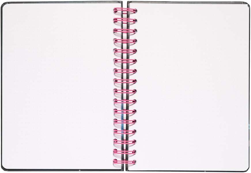 ideale come agenda 2020 2021 carta davorio di alta qualit/á 180 pagine quaderno A5 con copertina rigida e chiusura elastica Bullet Journal Rick /& Morty