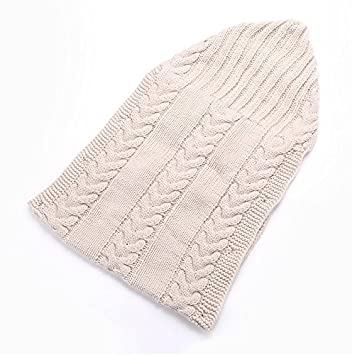 DROVE - Manta para recién nacido, tipo saco de dormir, lana, Beige,米色, 50*31cm: Amazon.es: Hogar