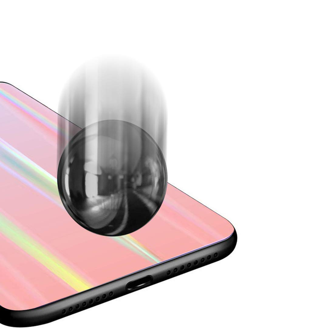 Plus H/ülle 9H Geh/ärtetem Marmor Glas R/ückseite mit TPU Rahmen Schutzh/ülle Ultra D/ünn Handyh/ülle Rahmen H/üllen Caler H/ülle Kompatibel mit Samsung Galaxy Note 10 Sto/ßfest Slim Kratzfest Shell Case