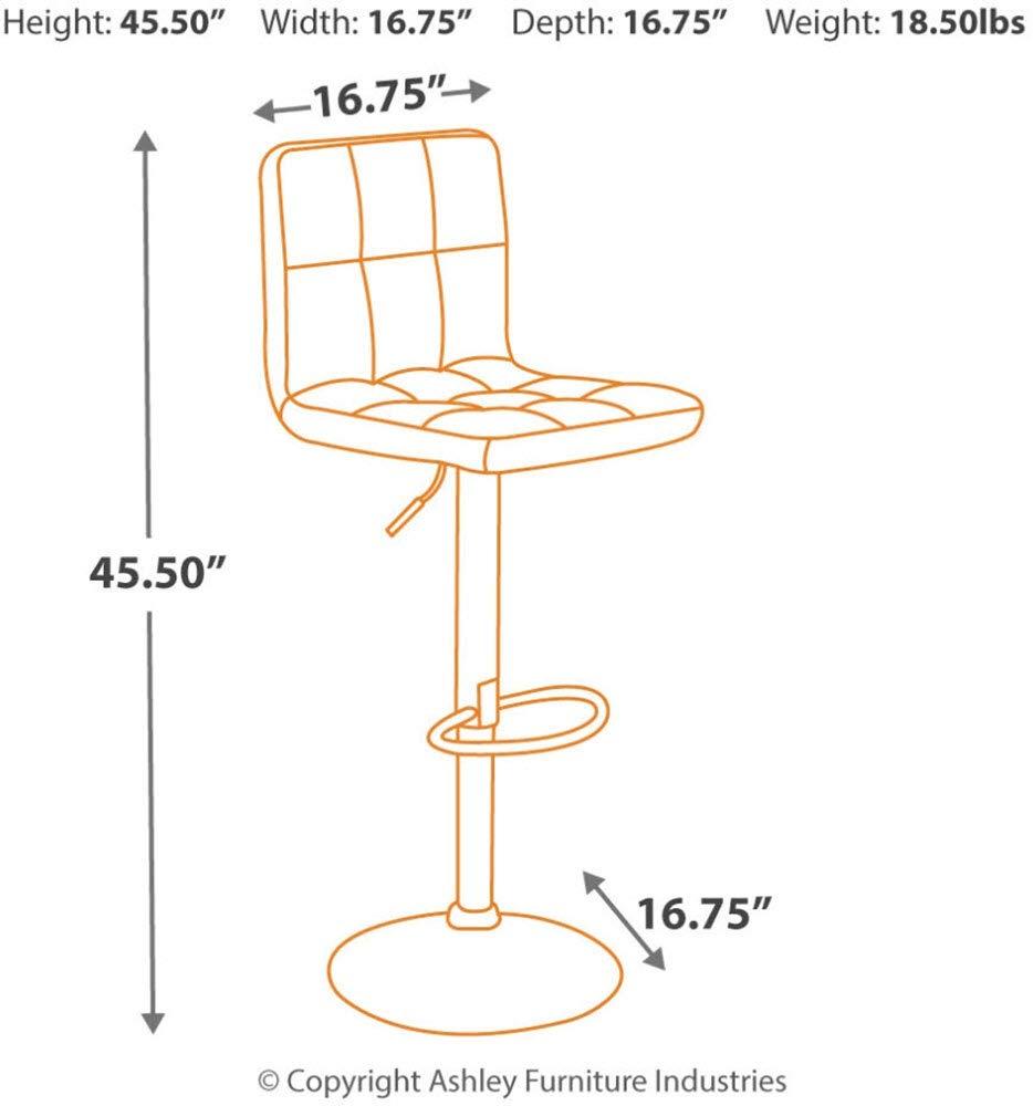 Bellatier Adjustable Height Bar Stool Ashley Furniture Signature Design Multi