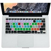 XSKN Apple Final Cut Pro X 10 Shortcut Design Silicone Keyboard Skin Cover for Macbook 13 15 17 inch (US & EU Layout)