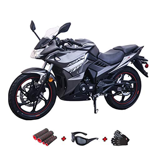- Lifan KPR 200(2018) 200cc Adult Gas Motorcycle Moped Scooter with Gloves, Sunglasses and Handgrip (Black/Red)