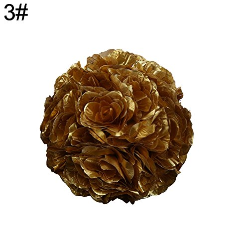 Dds5391 New 7inch Silk Flower Kissing Ball Artificial Rose Wedding Party Pomander Decoration - 3# from dds5391