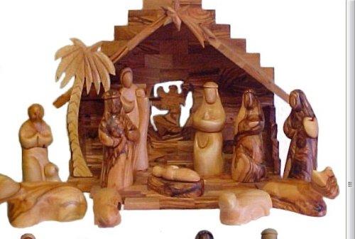 Faceless Olive Wood Nativity Set - Made in Bethlehem