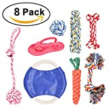 Hinry Life Puppy Toys Set, Interactive Puppy Chew Toys, Durable Pet Teething Toys for Small Medium Large Doggie (8 Pack)