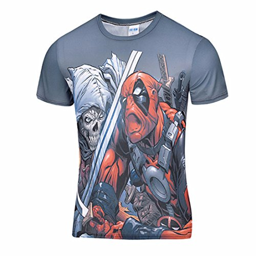 Men's 3D Cartoon Characters Comic Badass Casual Tee Shirts As shown 6 / 4XL (Badass Characters)