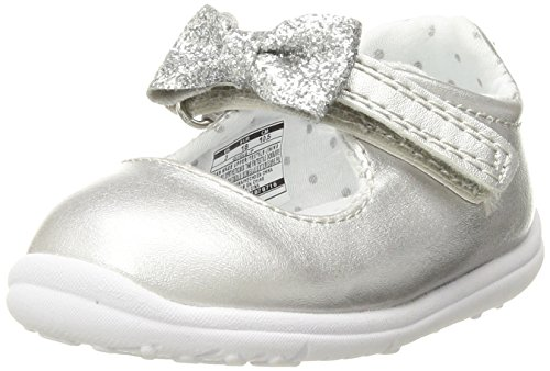 - Carter's Every Step Gigi Baby Girl's Mary Jane Flat, Silver, 5 M US Toddler