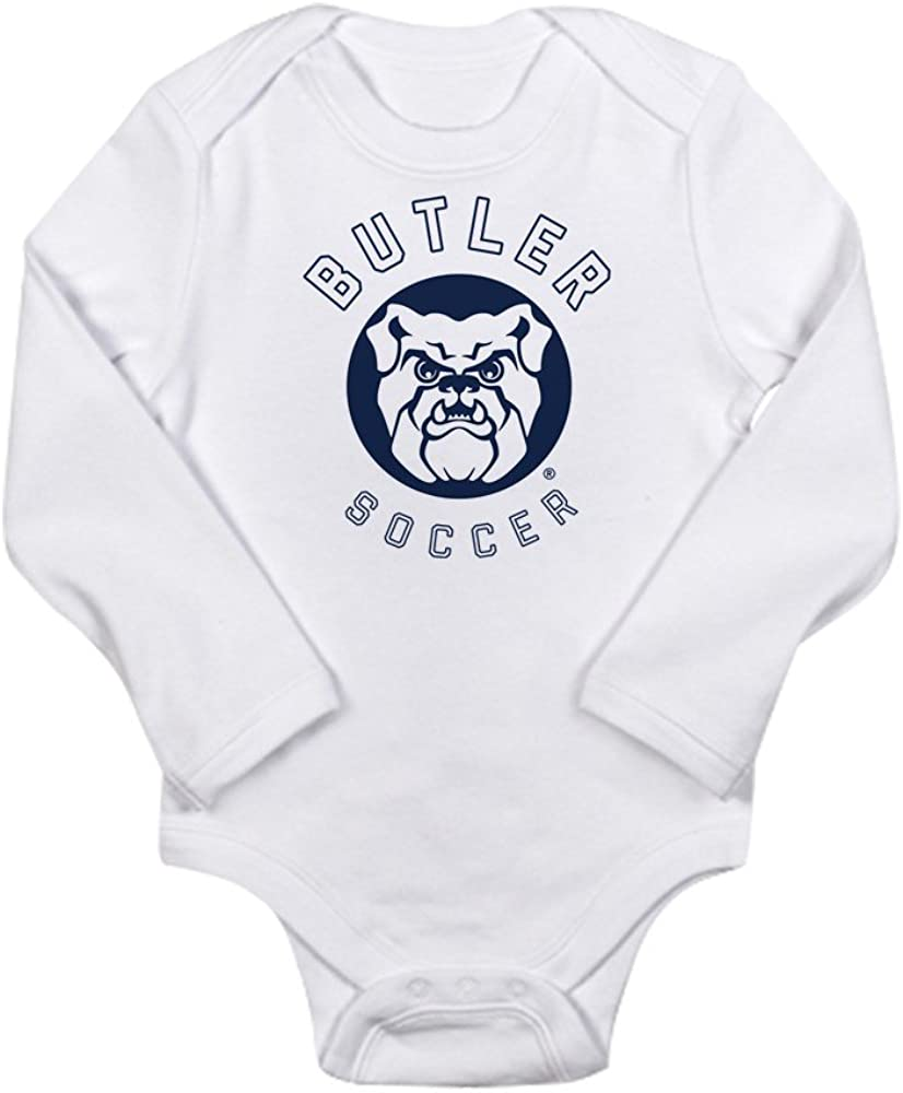 CafePress Butler Bulldogs Soccer Body Suit Cute Long Sleeve Infant Bodysuit Baby Romper Cloud White