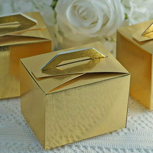 Mikash 200 Tote Boxes with Handles for Wedding Favors Ideas for Cute Decorations Sale | Model WDDNGDCRTN - 17989 |
