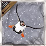 "Christmas Cards - Charity Pack of 8 ""Puffin In The Snow"" 6.25"" x 6.25"" ALCX9133"