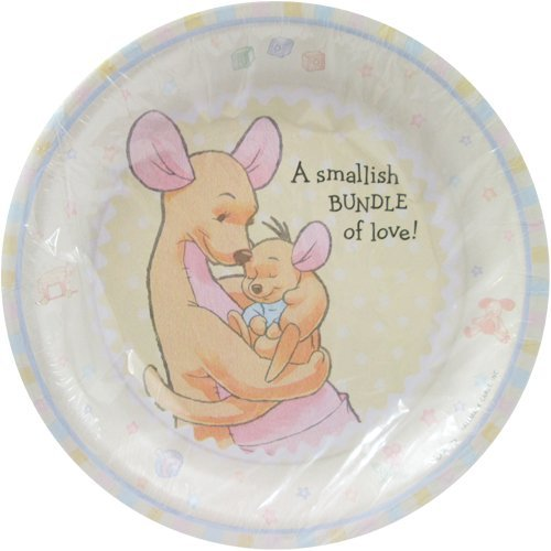 Winnie The Pooh Baby Plate (Winnie the Pooh Baby Shower 'Baby Roo' Small Paper Plates (8ct))