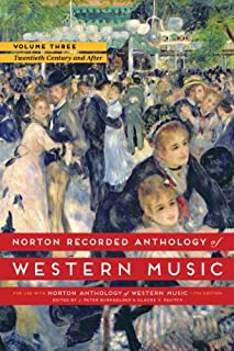 Norton Recorded Anthology of Western Music, Volume 3: The Twentieth Century and After (0393936899) | Amazon Products