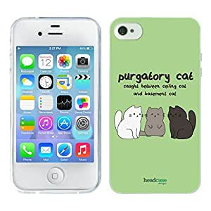 Head Case Designs Purgatory Cat Ceiling Cat Vs Basement Cat Soft Gel Back Case Cover for Apple iPhone 4 4S by ruishername