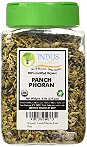 Indus Organics Authentic Bengal Five Spices Blend, 8 Oz Jar, Premium Grade, High Purity, Freshly Packed