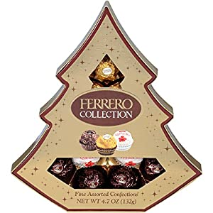Ferrero Collection Fine Assorted Confections, 12-Piece Tree Shaped Gift Box, 4.7 oz.