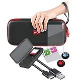 Nintendo Switch Lite Çanta Cam Ekran Koruyucu 9in1 Set
