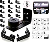 FLORADIS BARN DOOR FLOOR GUIDE STAY ROLLER/14 SETUP OPTIONS/BALL BEARINGS ULTRA SMOOTH GUIDES HARDWARE KIT/ COMPLETELY FLUSH to GROUND/THIN FULLY ADJUSTABLE WALL MOUNT BRACKET/SCRATCH-RESISTANT WHEELS