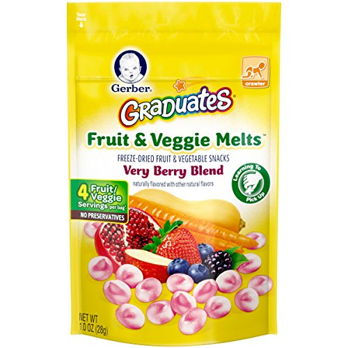 Gerber Graduates Fruit and Veggie, Melts Very Berry Blend, 1 Ounce (Pack of 7) (Berry 1)