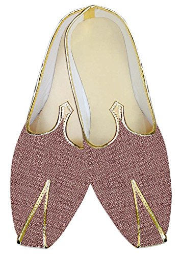 INMONARCH Yute Borgoña Hombres Zapatos de Boda Novios MJ013917