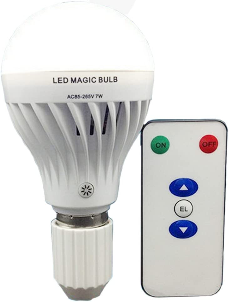 BSOD LED Magic Bulb AC85-265V 7W with Remote Controller White Lighting Built-in Rechargeable Battery LED Lamp for Home Indoor Flashlight