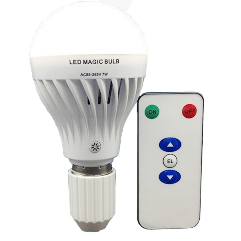 Bsod AC 85-265V 7W LED Magic bulb with remote controller, White ...
