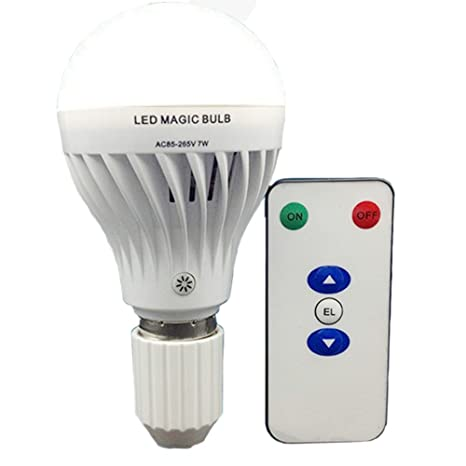 Bsod AC 85-265V 7W LED Magic bulb with remote controller ,White Emergency Light