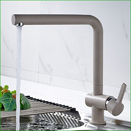 (LYTOR Kitchen Faucet Commercial Kitchen Sink Mixer Tap Cold and Hot Handle Mixer Taps Solid Brass Basin Mixer Tap Oatmeal White Black Basin Mixer Tap)
