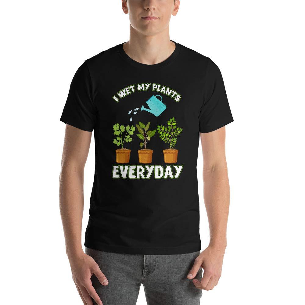 Alpha5StarDeals I Wet My Plants Everyday Short-Sleeve Unisex T-Shirt