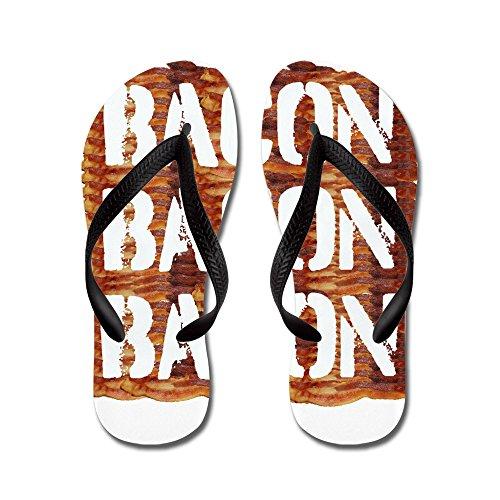 Bacon Pancetta Affumicata Bacon - Infradito, Sandali Infradito Divertenti, Sandali Da Spiaggia Neri