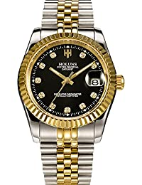 Automatic Watch Mechanical Mens Luxury Gold Silver Stainless Steel Diamond Wrist Watches Analog Date