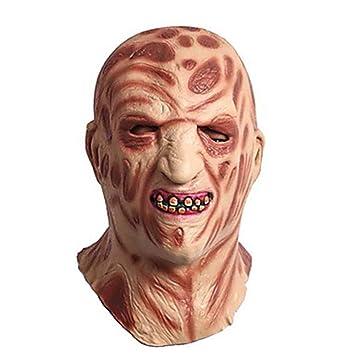 WHFDRHWSJMJ Mascara Halloween Terror de LED Cosplay Decoraciones navideñas Decoraciones de Halloween Máscaras de Halloween Halloween