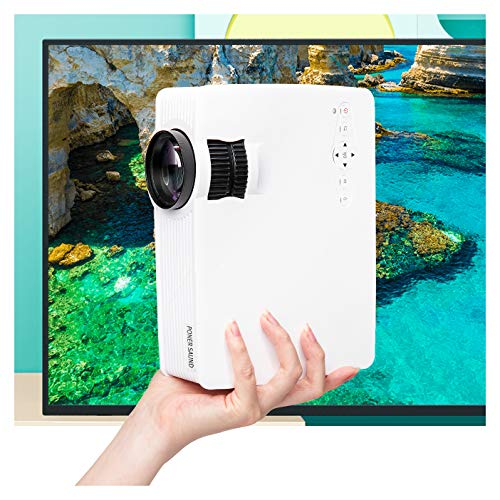 Mini Projector Portable, PONER SAUND GP9 Projector 2000 Lux LED Mini Projector, 1080P Supported Video Projector with 170'' LCD, Compatible with Ipad, Fire TV Stick, PS4, HDMI, VGA, TF, USB by PONER SAUND