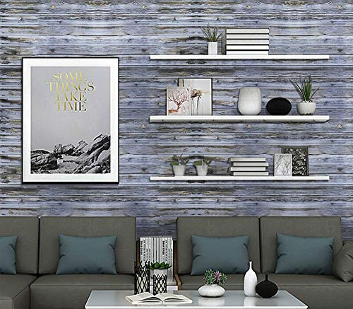 "Wood Wallpaper Peel and Stick Wallpaper Wood Contact Paper Decorative Rustic Distressed Self Adhesive Wallpaper Removable Wallpaper Wood Shiplap Wall Paper for Furniture Wall Table Vinyl 17.7""×78.7"""