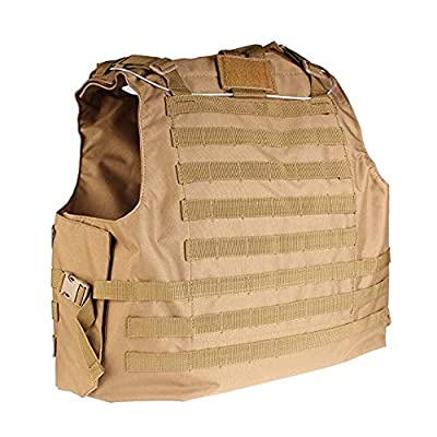 Dr.Luck Tactical Molle Airsoft Vest Paintball Combat Soft Vest Tan/Airsoft Tactical Vest