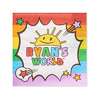 American Greetings Ryan's World Lunch Paper Napkins for Kids (50-Count)