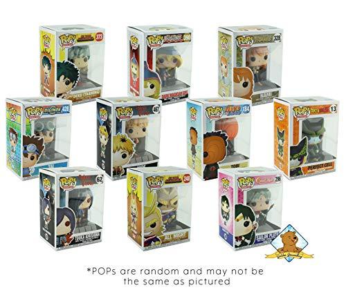 (Funko POP Mystery Anime Bundle Pack Set of 6! 6 Random Pops No Duplication! Includes 6 Golden Groundhog Plastic Protector Cases! Bundle Produced Golden Groundhog!)