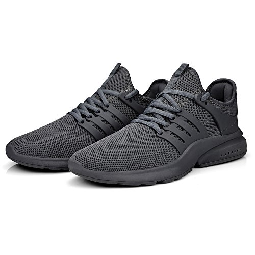 ZOCAVIA Men's Running Shoes Ultra Lightweight Tennis Gym Shoes Slip On Mesh Fitness Slip Resistant Walking Workout Shoes