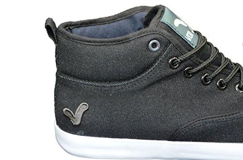 Zapatillas funda Voi Jeans para hombre elegante Hi Top Zapatos Gimnasio Walking bombas zapatillas calzado negro y gris