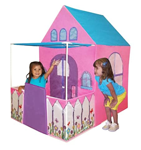 Playhouse Victorian Princess Castle Play tent with fenced patio by Kids Adventure (Patio Pickets)